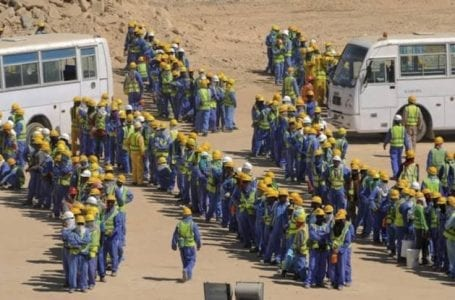 The situation of foreign workers' rights in Qatar.