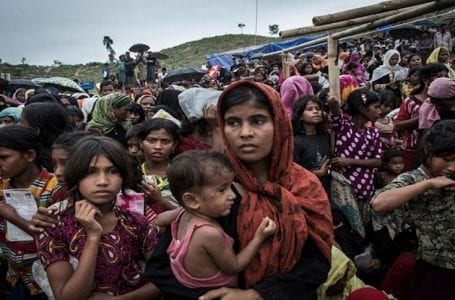 "600,000 Rohingya at risk of ""genocide""."