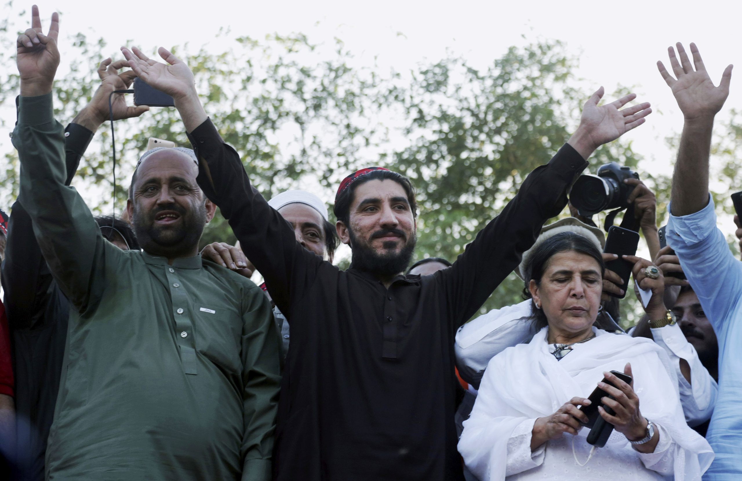 Pakistan arrests a human rights leader who criticized the army's violations.