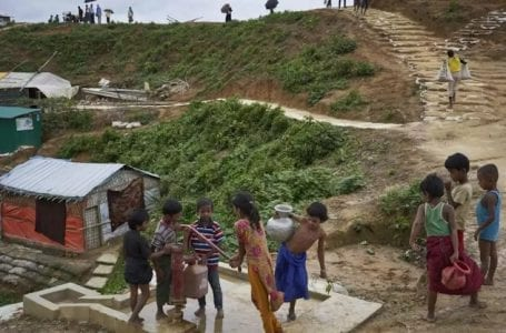 The United Nations: 877 million dollars needed to help the Rohingya in Bangladesh.
