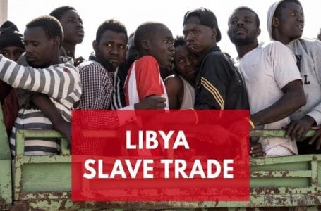 Migrants auctioned off as slaves.