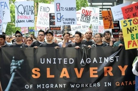 Qatar's human rights and foreign workers rights violations.