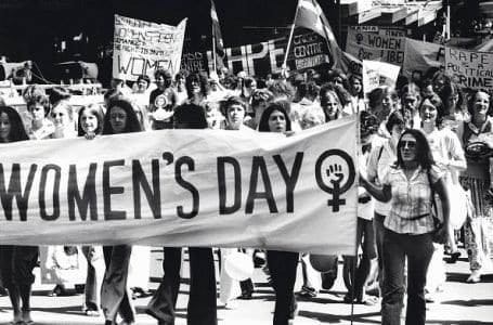 (AUSTRALIA & NEW ZEALAND OUT) International Women's Day, 12 March 1977. SMH Picture by DAVID BARTHO (Photo by Fairfax Media/Fairfax Media via Getty Images)