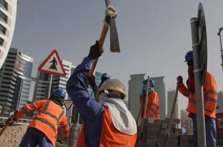 The US State Department: workers died in Qatar as a result of harsh working conditions.