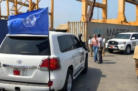 A United Nations ship blocked in Yemen