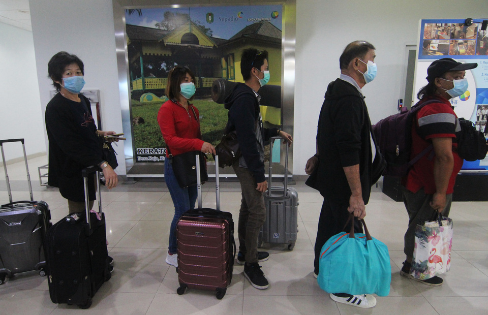 Indonesian citizens in other countries went back to their native