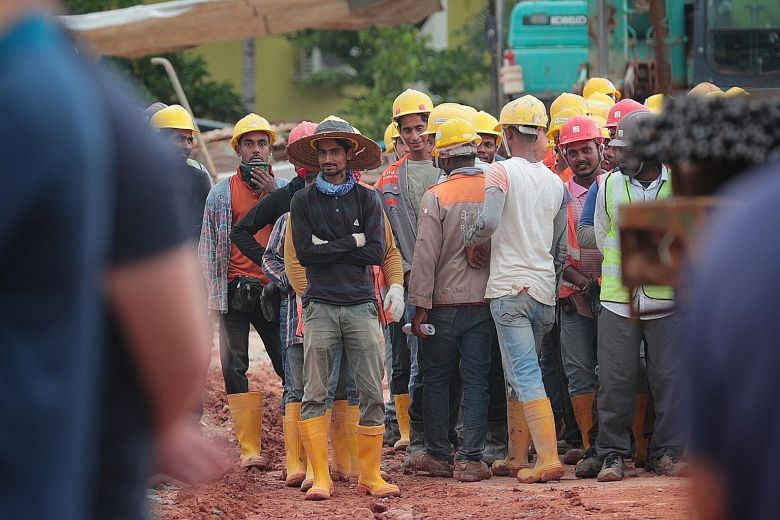 Singapore govt decreased the number of tests done on migrant workers