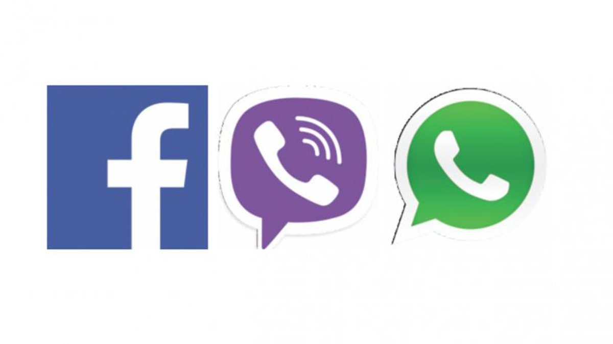 Whatsapp, Facebook, Viber