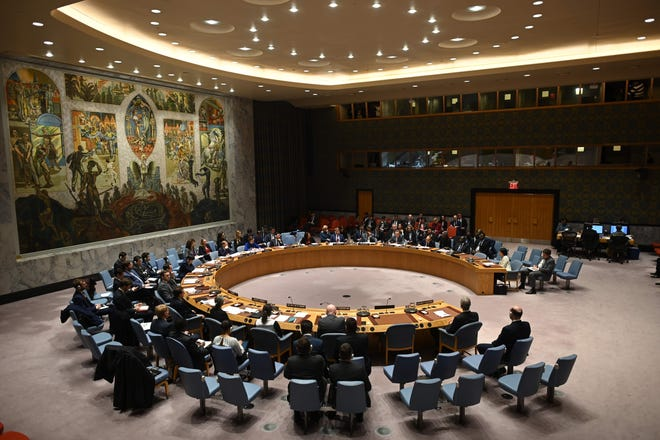 United Nation council at UN headquarters announce 3 month Humanitarian Truce