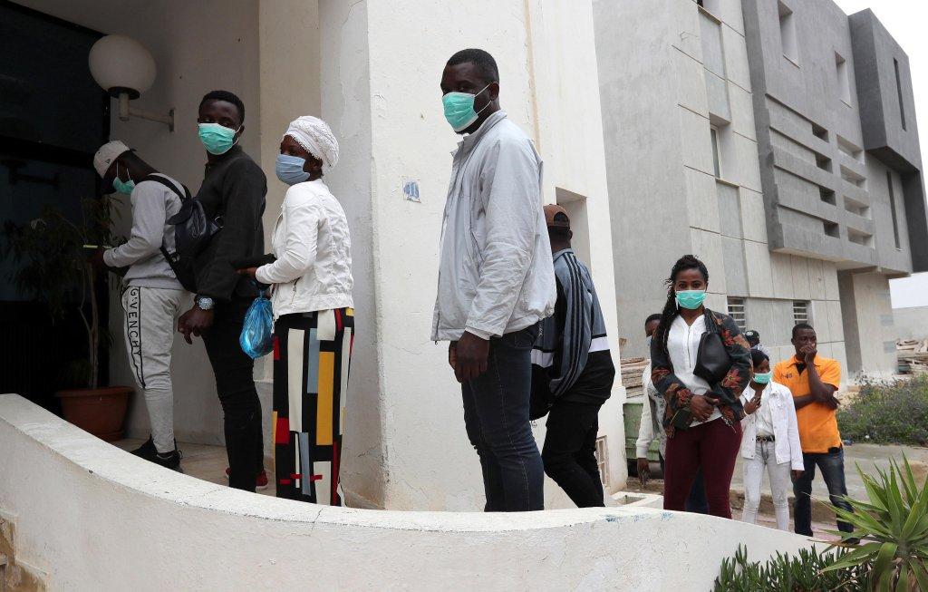 Civil activists reported the number of migrant despite the spread of covid19 in Tunsia
