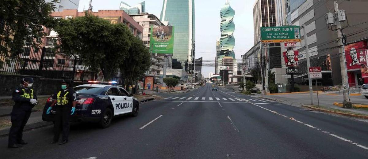 Panama road looks empty due to lockdown