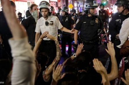 New York protestors denied basic human rights as they are shoved into crowded and filthy jails
