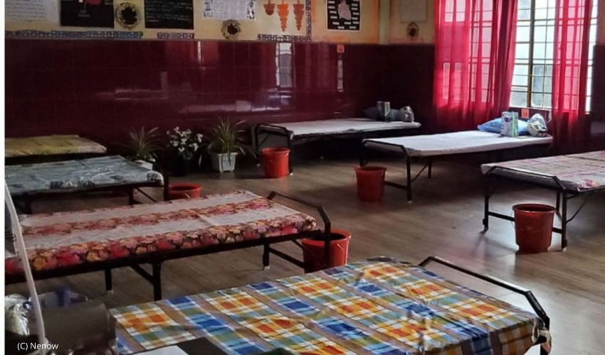 View of a Meghalaya quarantine centre
