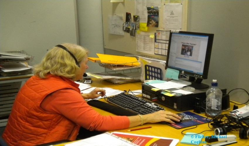 Teachers working remotely