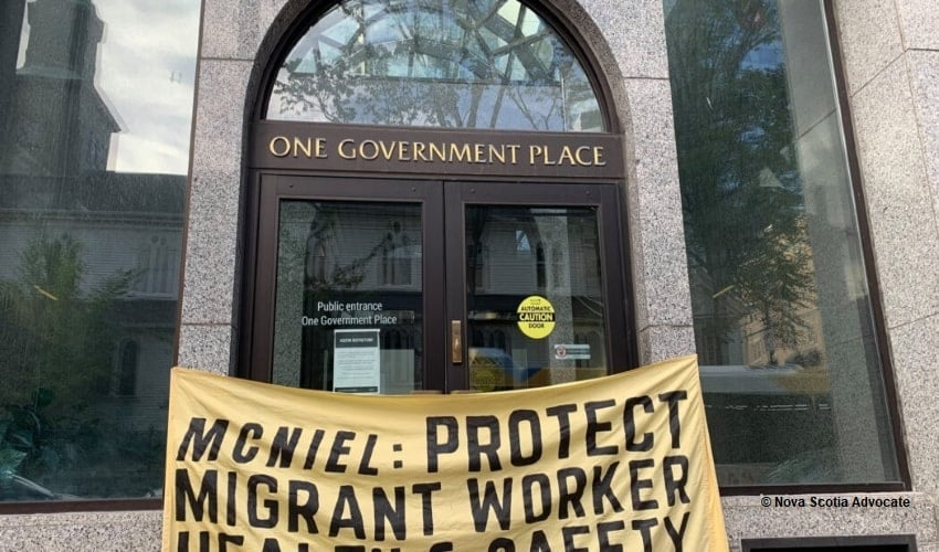Nova Scotia, migrant workers rights, McNeil government
