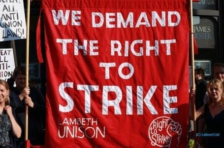 Re-affirming UK's right to strike