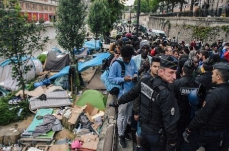 Dismantle Of Migrant Tents Leads To Human Rights Violation In Paris