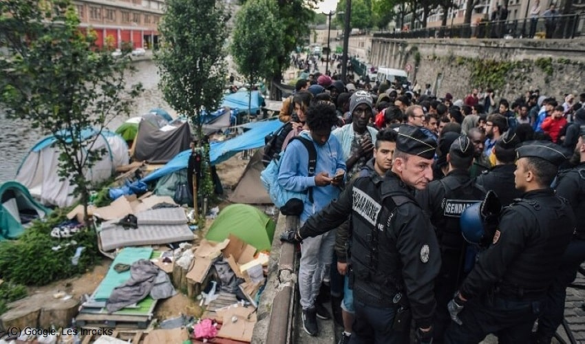 Dismantle-Of-Migrant-Tents-Leads-To-Human-Rights-Violation-In-Paris