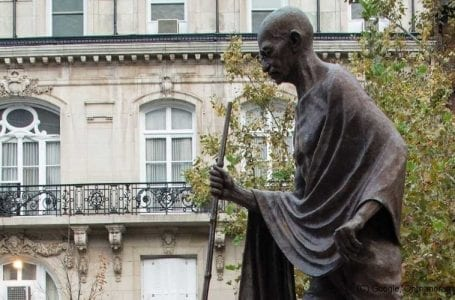 Mahatma Gandhi's statue outside India Embassy in US defaced by Khalistan supporters