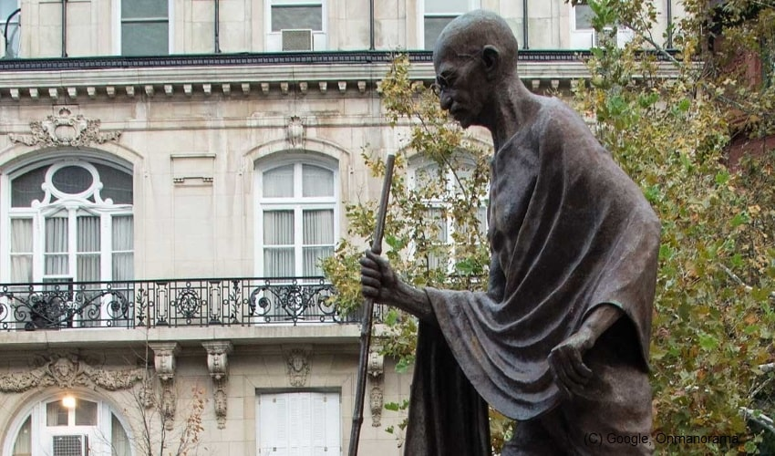 Mahatma-Gandhi's-statue-outside-India-Embassy-in-US-defaced-by-Khalistan-supporters