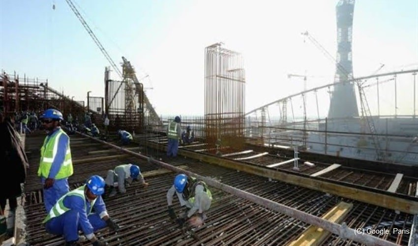 Qatar-exploits-workers-ahead-of-FIFA-2020,-pays-them-82p-for-rigorous-work