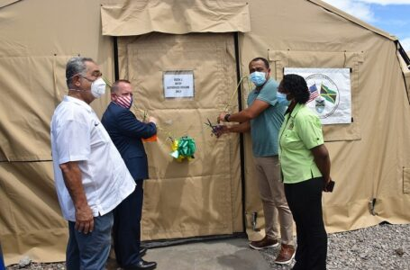 40-bed field hospital is opened at May Pen Hospital in Clarendon