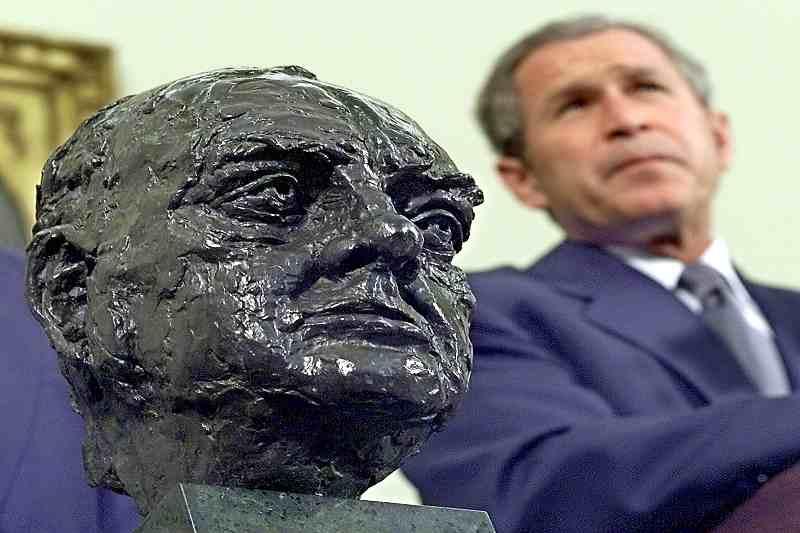 Churchill's bust
