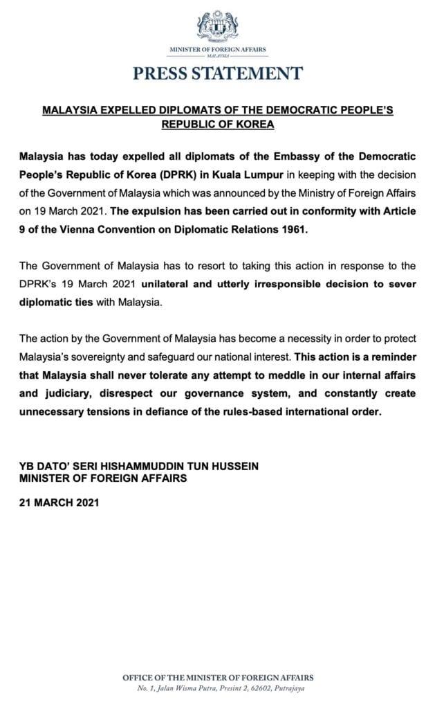 malaysia korea embassy statement english 1