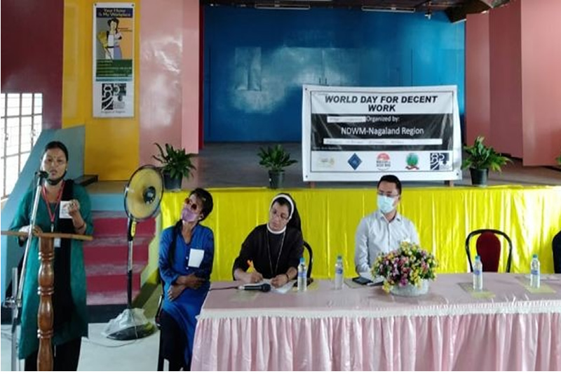 Nagaland's domestic workers in severe agony and observes 'World day for decent work'