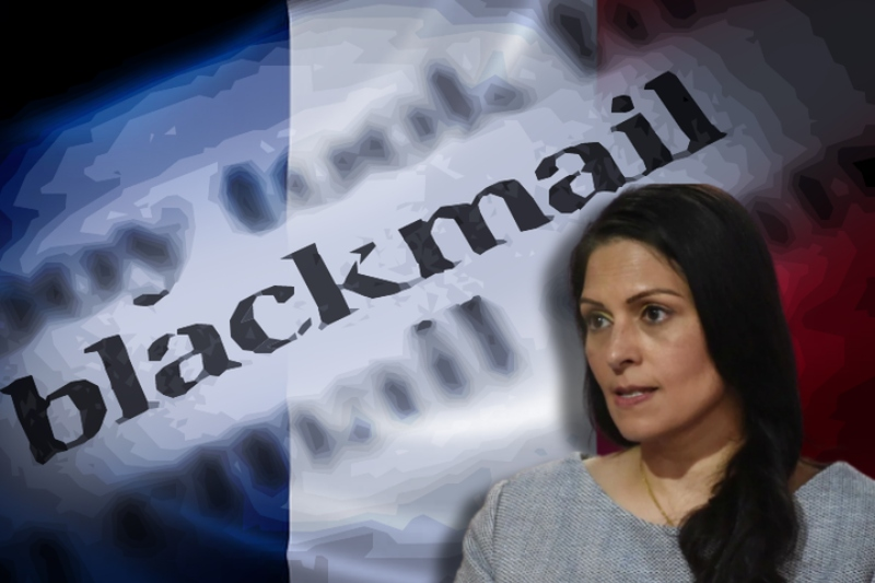 Priti Patel accused of financial blackmail by France