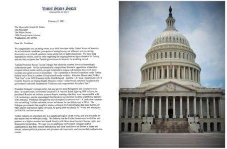 Letter to President: Senators urge Biden over Turkey's human rights crisis in the bipartisan letter