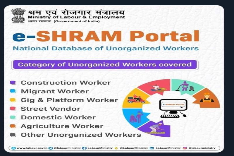 e shram portal in India