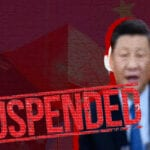 China media suspended